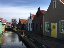 "The shops lining the ""canal"""