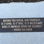 Sound advice upon entering the Japanese Garden.