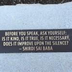 Sound advice upon entering the Japanese Garden.