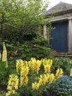 The English garden was exquisite. I do love a blue door.