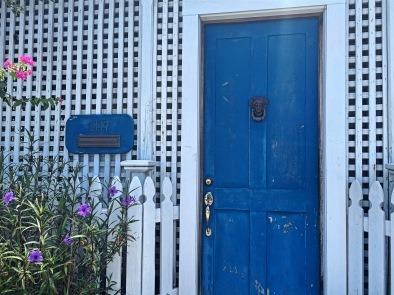The prettiest door on the island.