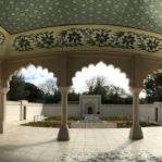 The Char Bagh garden was inspired by designs in the Taj Mahal.